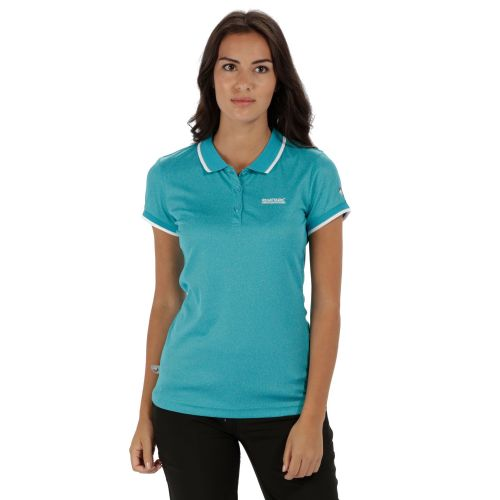 Regatta WOMEN'S REMEX POLYESTER POLO SHIRT - Aqua Marl